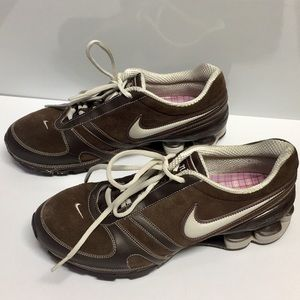 Nike Shox Brown Suede/ leather Combo Shoes (9)